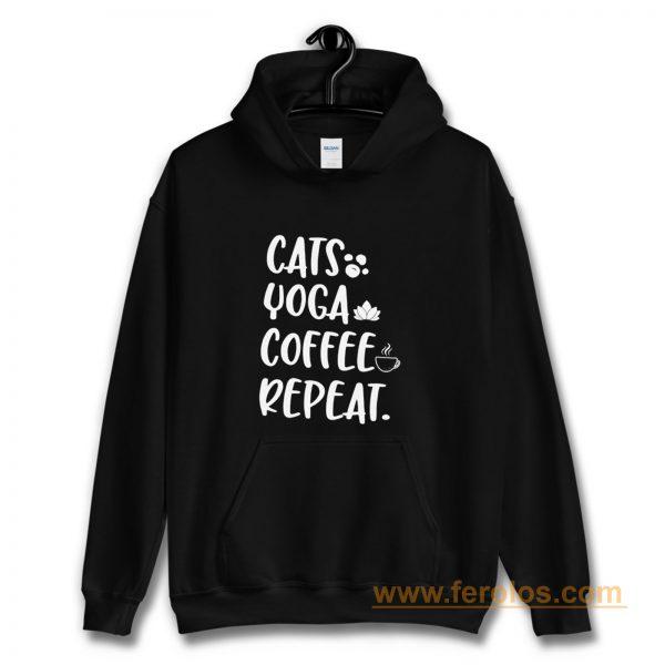 Cats Coffee Caffeine Yoga Hoodie