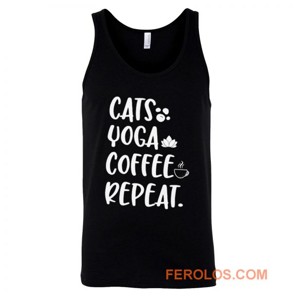 Cats Coffee Caffeine Yoga Tank Top