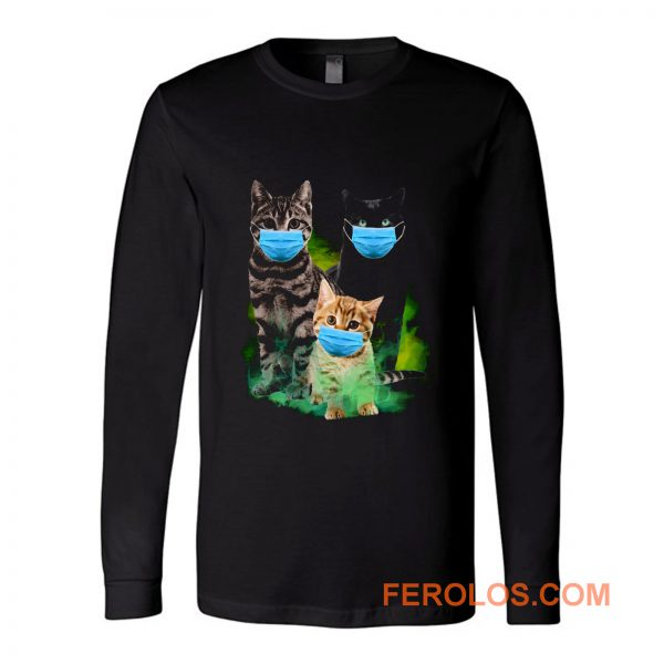 Cats with Face Mask 2020 Long Sleeve