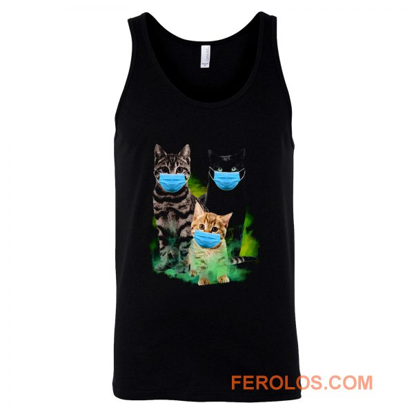 Cats with Face Mask 2020 Tank Top