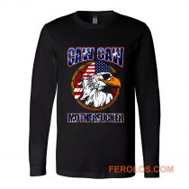 Caw Caw Mother Fcker Patriotic USA Funny Murica Eagle 4th of July Long Sleeve