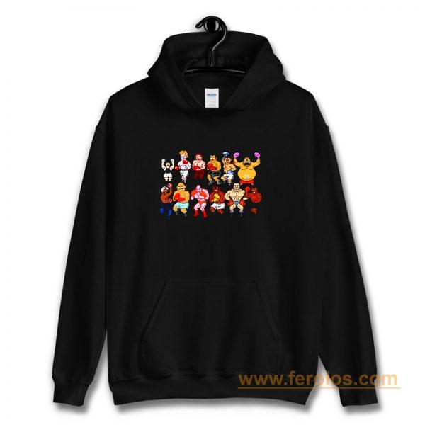 Classic Nes Nintendo 8bit Mike Tyson Punchout Characters Hoodie