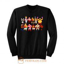 Classic Nes Nintendo 8bit Mike Tyson Punchout Characters Sweatshirt