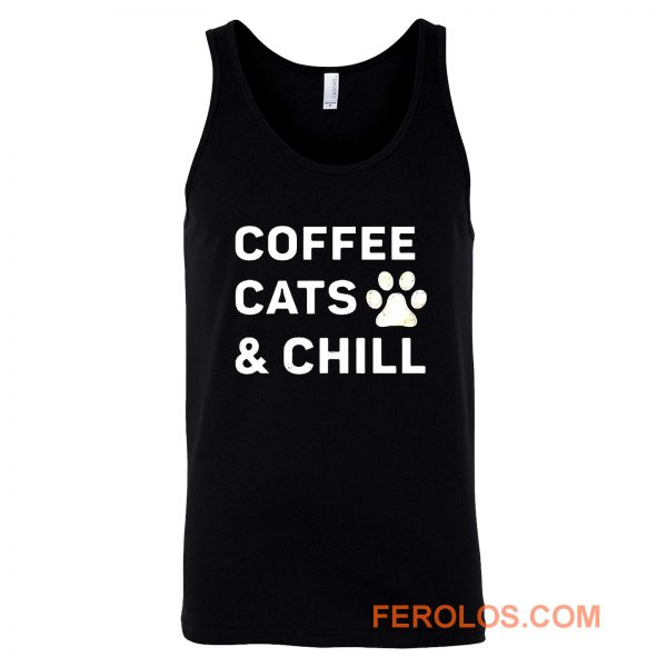 Coffee Cats And Chill Tank Top