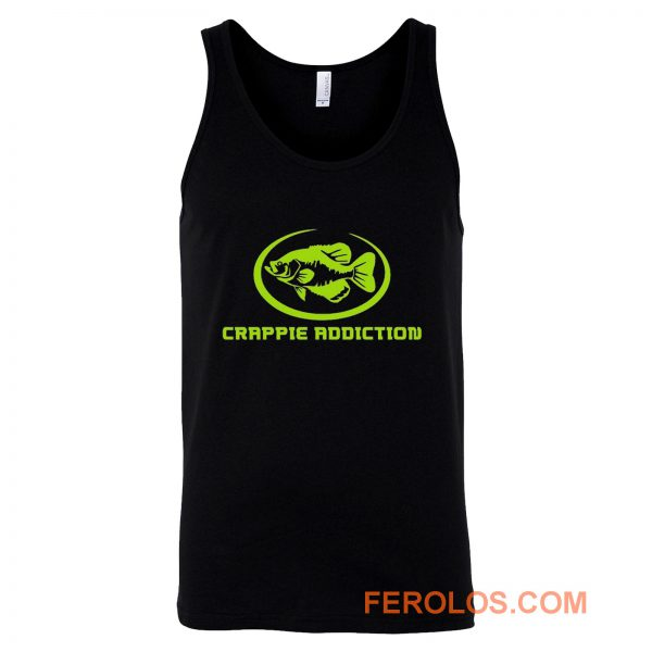 Crappie Addiction Funny Fishing Tank Top