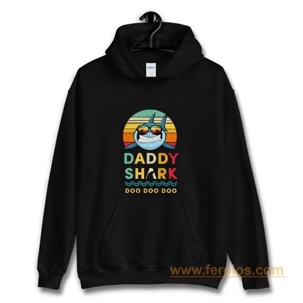 Daddy Shark Vintage Style Hoodie