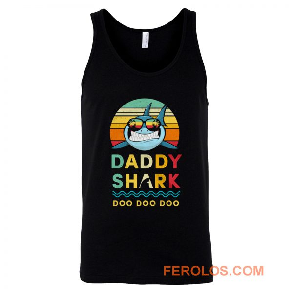 Daddy Shark Vintage Style Tank Top