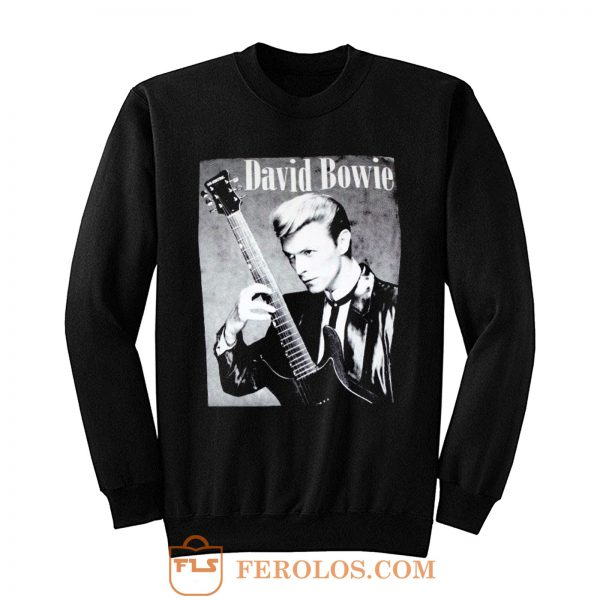 David Bowie Classic Guitarist Sweatshirt
