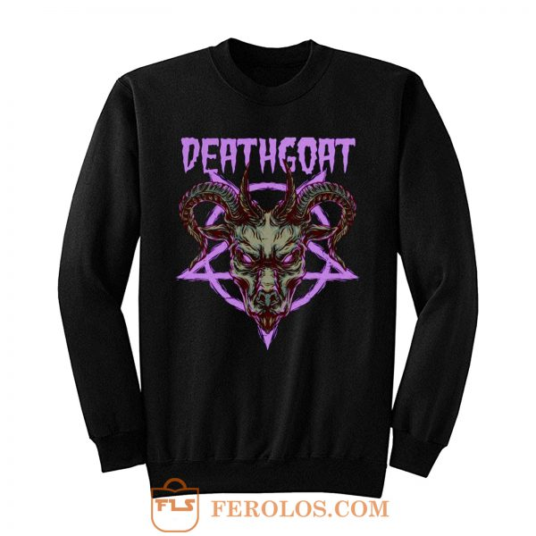 Death Goat Death Metal Band Sweatshirt
