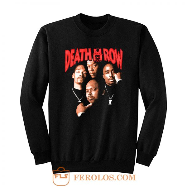 Death Row Records Tupac Dre Retro Sweatshirt