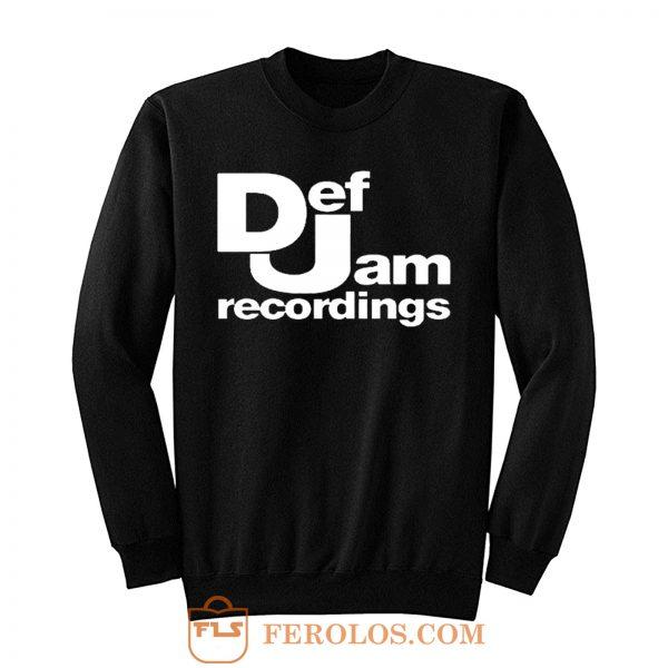 Def Jam Recordings Hip Hop Classic Music Sweatshirt