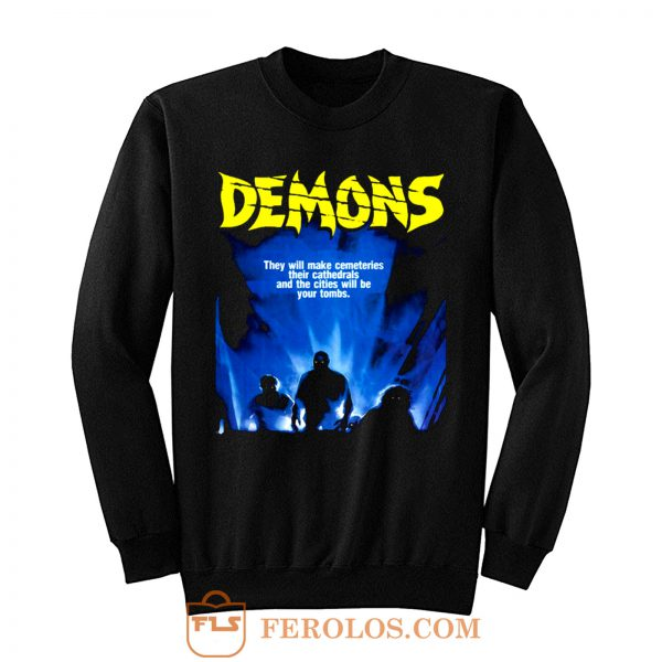 Demons Movie Demoni Italian Vintage Classic Horror Sweatshirt