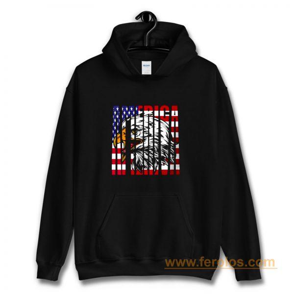 Eagle Mullet American Flag Hoodie