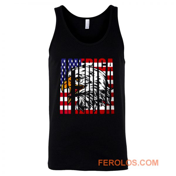 Eagle Mullet American Flag Tank Top