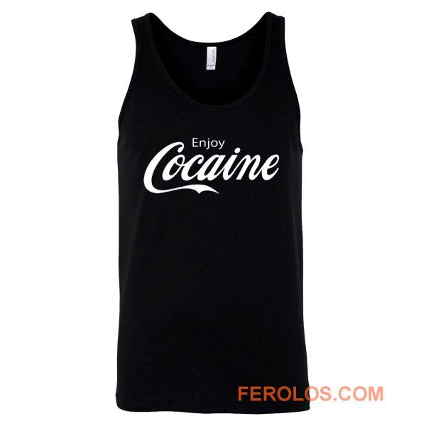 Enjoy Cocaine Funny Humor Parody Tank Top
