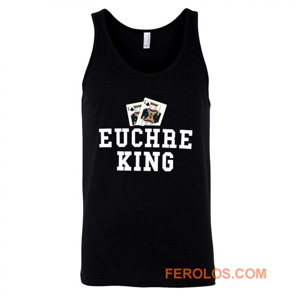 Euchre King Funny Euchre Player Tank Top