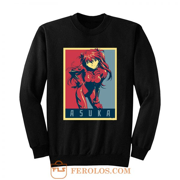 Evangelion Asuka Political Sweatshirt