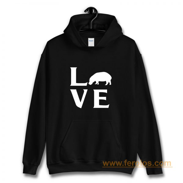 Extinction Animals Hippopotamus Love Hoodie