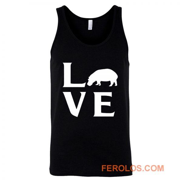 Extinction Animals Hippopotamus Love Tank Top