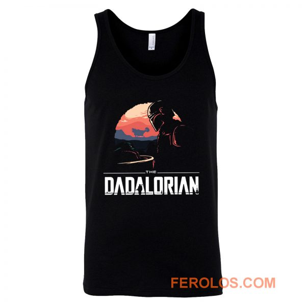 Father Star Wars Mandalorian Tank Top