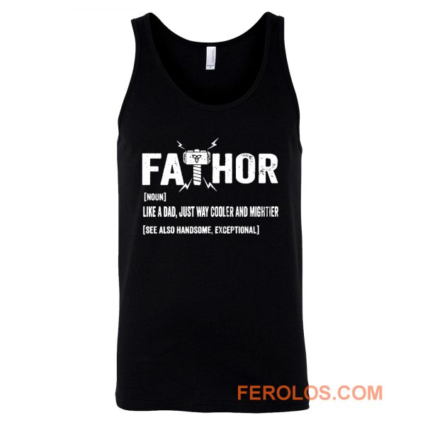 Father Thor FaThor Funny Dad Viking Tank Top