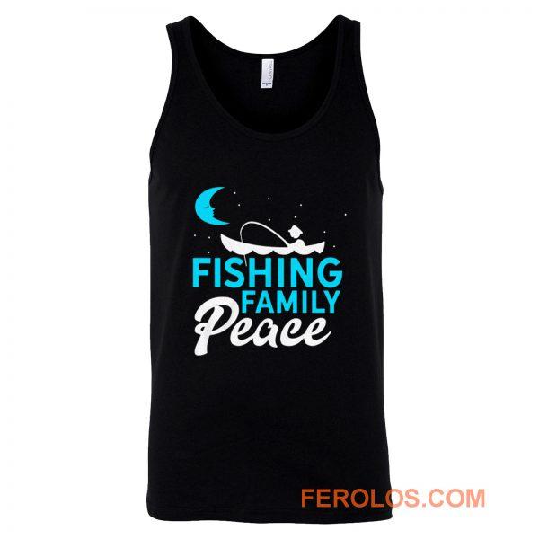 Fishing Family Peace Tank Top