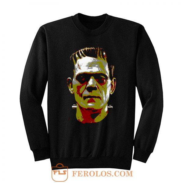 Frankenstein Face Halloween Horror Movie Sweatshirt