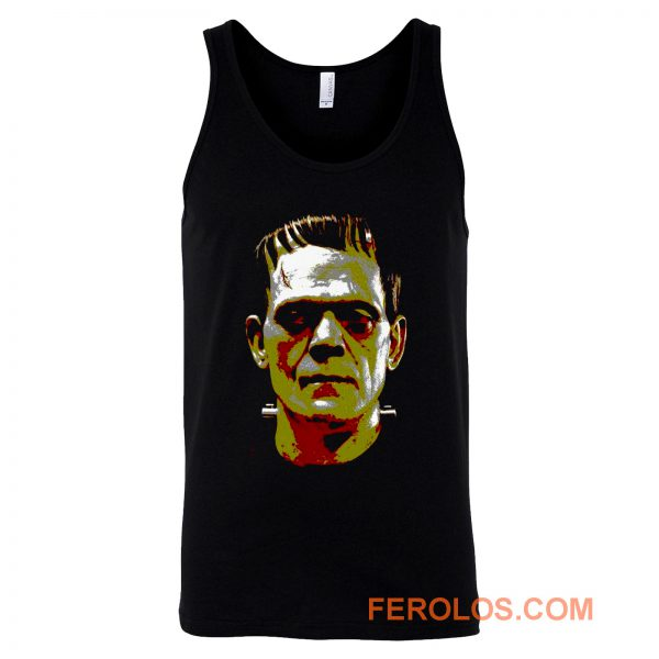 Frankenstein Face Halloween Horror Movie Tank Top