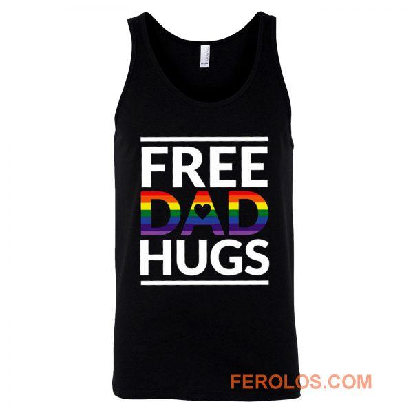 Free Dad Hugs LGBT Dad LGBT Awareness LGBT Pride Tank Top