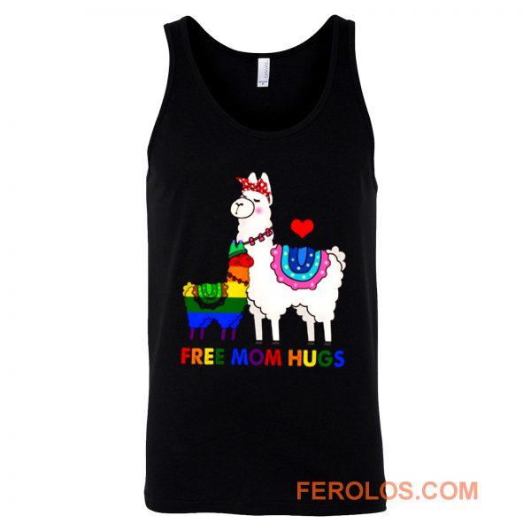 Free Mom Hugs Cute Llama LGBT Support Tank Top