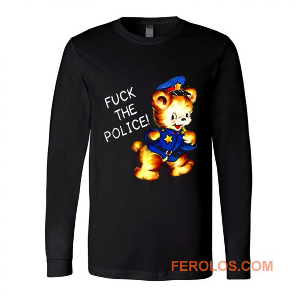Fuck the Police Cat Long Sleeve
