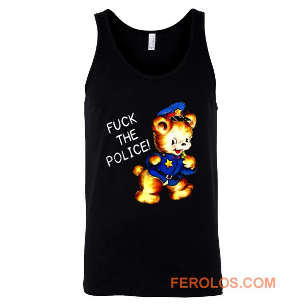 Fuck the Police Cat Tank Top