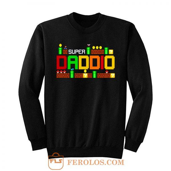 Funny Dad Super Daddio Parody Super Mario Sweatshirt