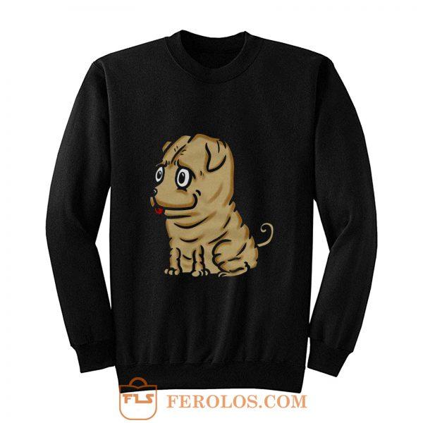 Funny Shar Pei Dog Cartoon Sweatshirt