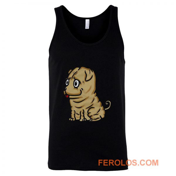 Funny Shar Pei Dog Cartoon Tank Top