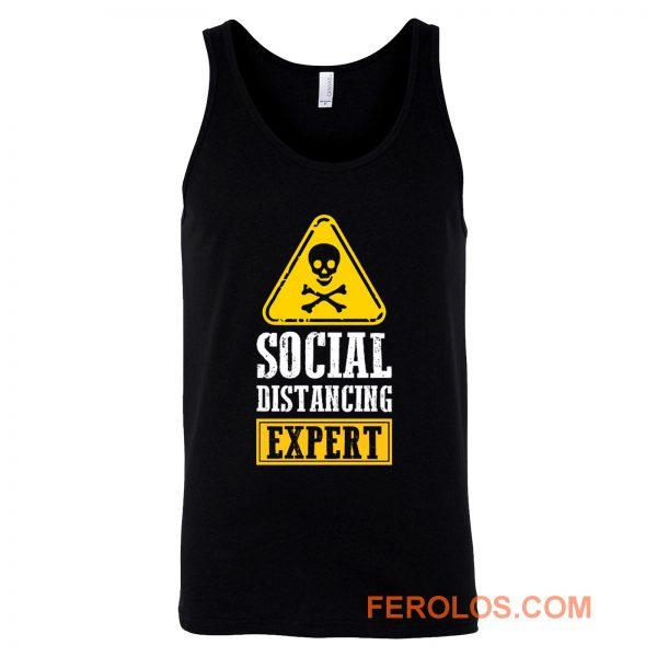 Funny Social Distancing Expert Tank Top