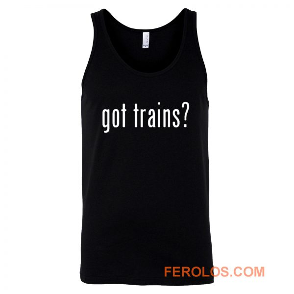 Funny Train Model Locomotive Steam Railroad Engine Tank Top