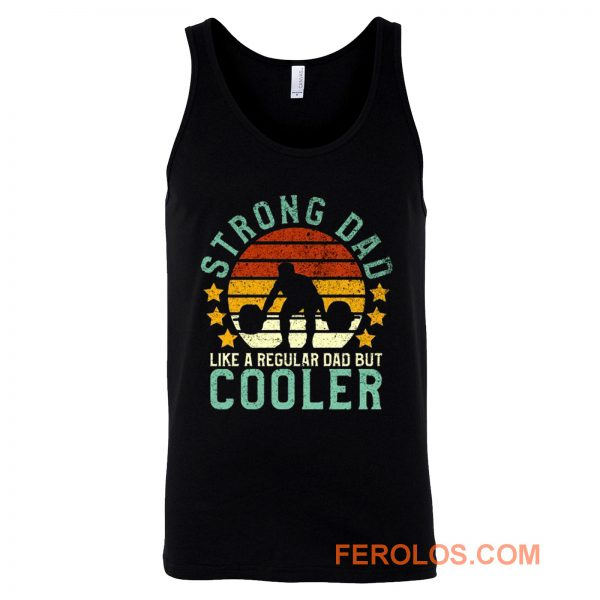 Funny Vintage Strength Training Fathers Tank Top