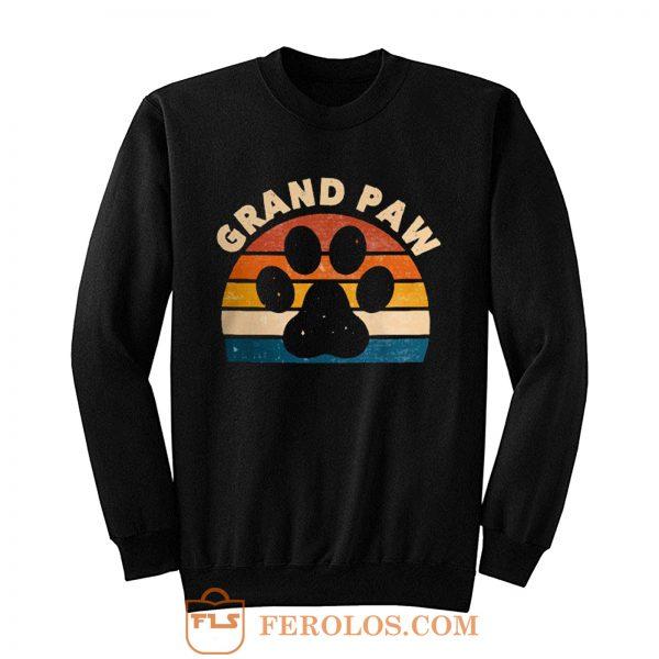 Grandpa Paw Pet Animal Lover Sweatshirt