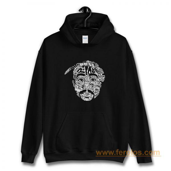 Hip Hop Face Tupac Sakur 2Pac Thug Life Hoodie