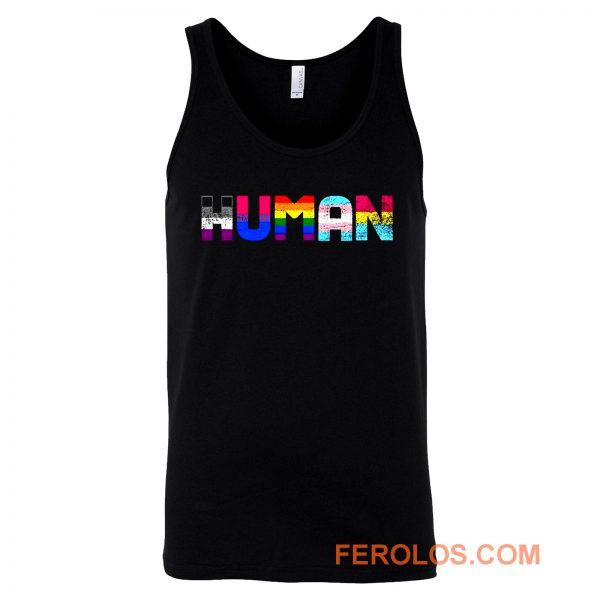 Human Lgbt Gay Pride Month Transgender Rainbow Equal Tank Top