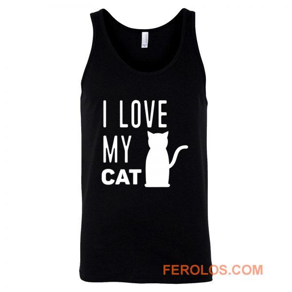 I Love My Cat Tank Top