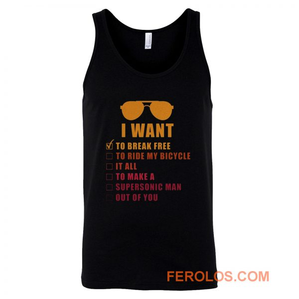 I Want To Break Free Queen Band Tank Top