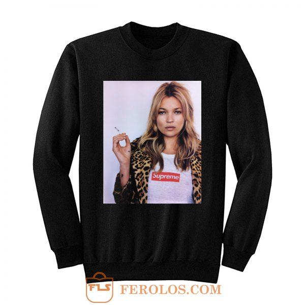 Kate Moss Model Kermit Tyson Gaga Smoking Sweatshirt