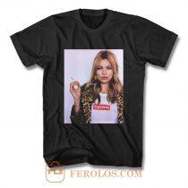 Kate Moss Model Kermit Tyson Gaga Smoking T Shirt