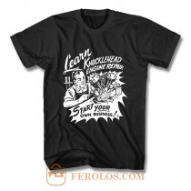 Knucklehead Repair Harley Engine Cannonball Vintage T Shirt