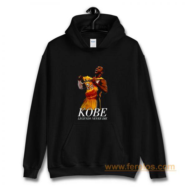Kobe 24 Bryant Black Mamba Legend Forever Hoodie