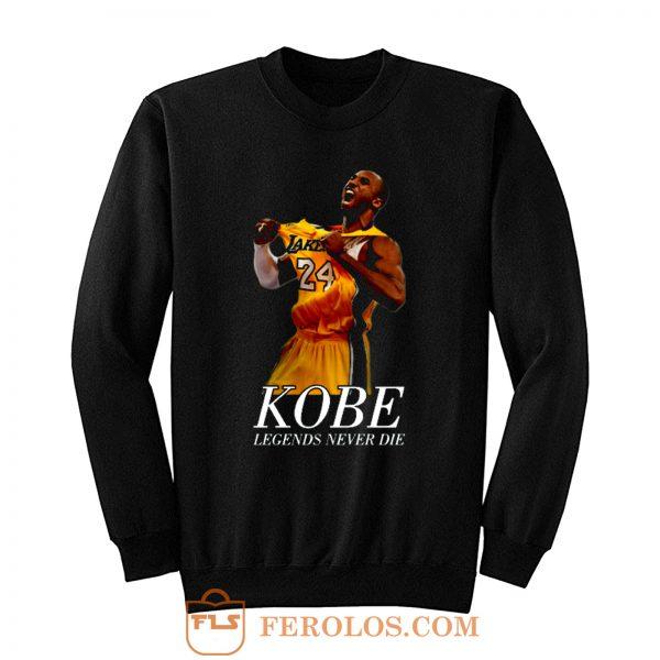 Kobe 24 Bryant Black Mamba Legend Forever Sweatshirt