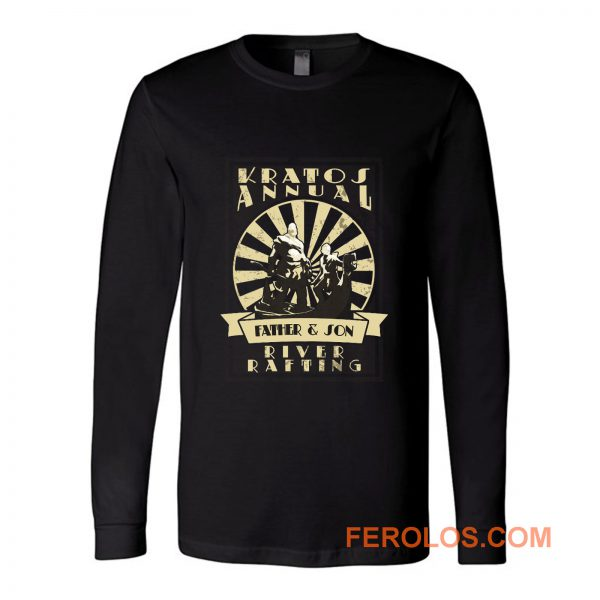 Kratos Father and Son River Rafting God Of War Long Sleeve