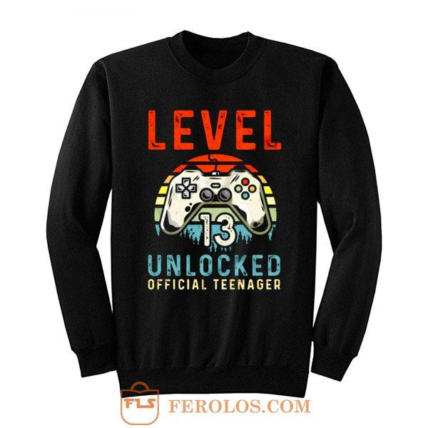 Level 13 Unlocked 13th Birthday Sweatshirt